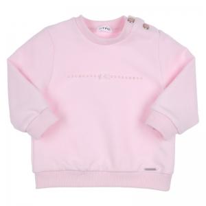 Sweater met strass en strikje logo