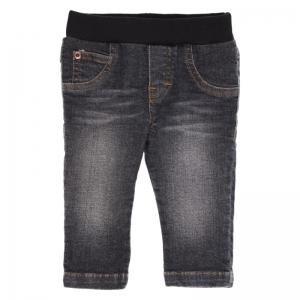 Jeans met elastiek logo
