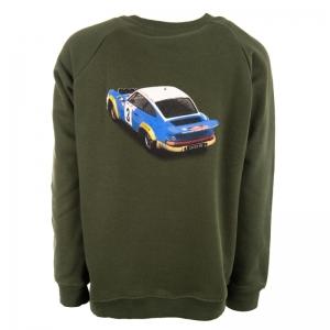 Sweater met bedrukking khaki