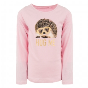 Meisjes t-shirt met bedrukking pink