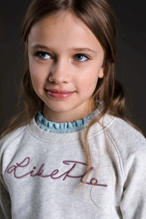 Sweater frul aan kraag logo