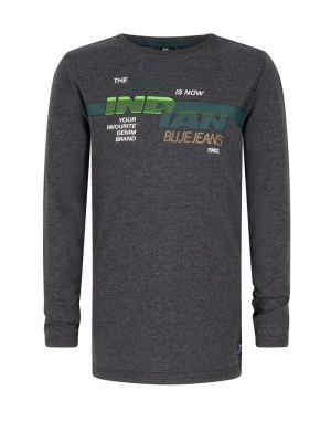 T-shirt groene bedrukking logo